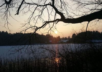 Winterstimmung am Globsowsee