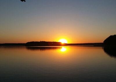 Sonnenuntergang am Stechlin